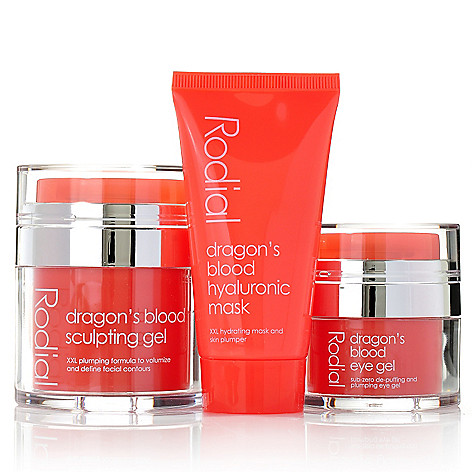 306-328 - Rodial Three-Piece Dragon's Blood Sculpting Gel, Eye Gel & Mask Set