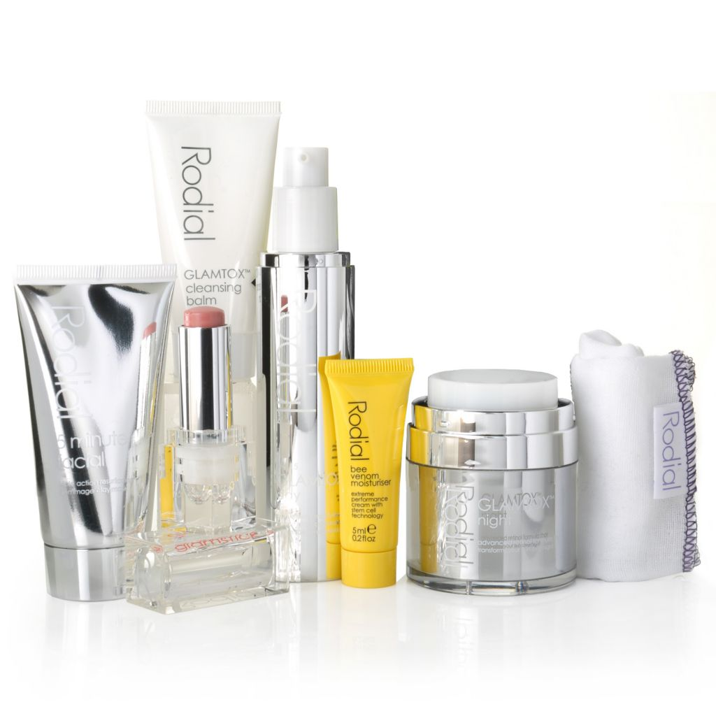 306-334 - Rodial Six-Piece GLAMTOX™ Skincare Collection w/ Cleansing Cloth