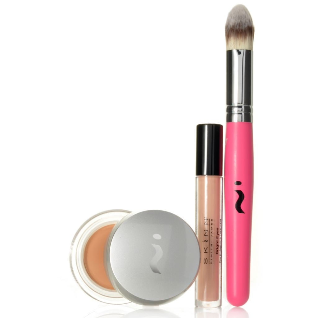 306-350 - Skinn Cosmetics Three-Piece Plasma Foundation, Bright Eyes & Brush Collection