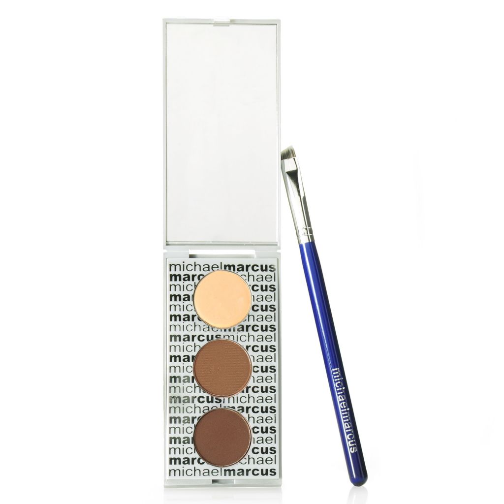 306-394 - Michael Marcus Two-Piece Brow Powder & Definer Kit w/ Brow Brush
