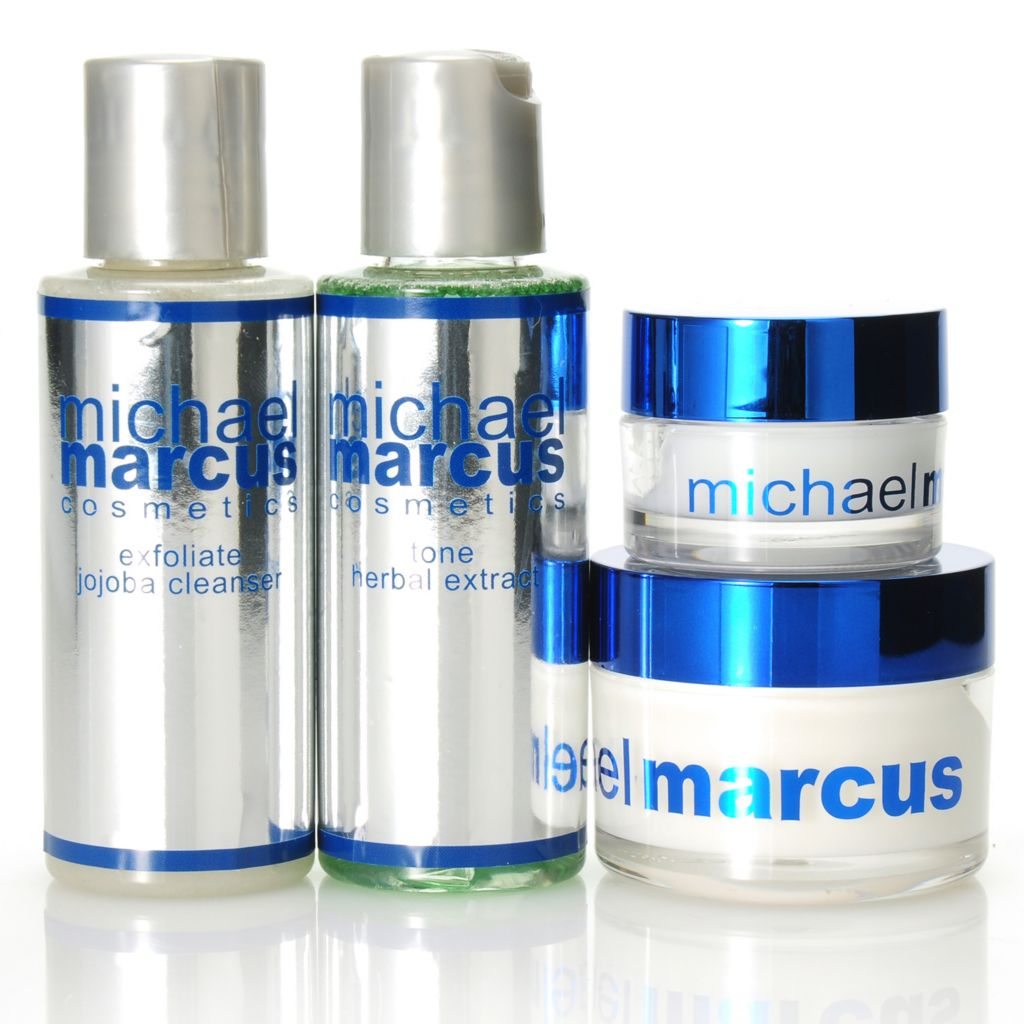 306-402 - Michael Marcus Four-Piece Exfoliating & Toning Skincare Kit
