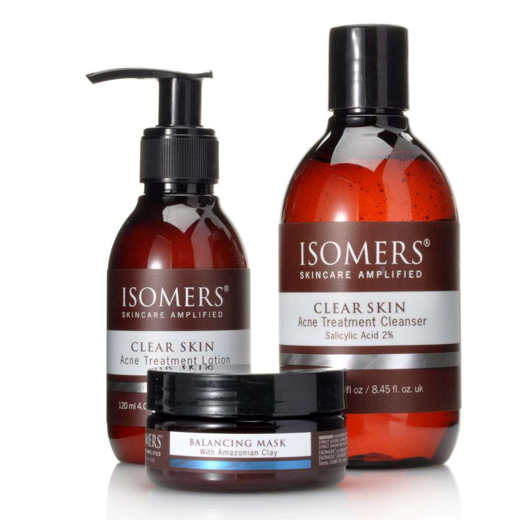 306-424 - ISOMERS® Three-Piece Acne Treatment Cleanser, Lotion & Balancing Mask Set