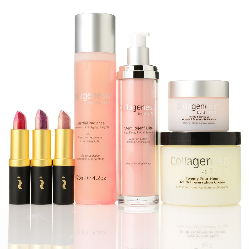 306-432 - Skinn Cosmetics Winter Recovery Seven-Piece Skincare & Plasma Fusion Lip Color Collection
