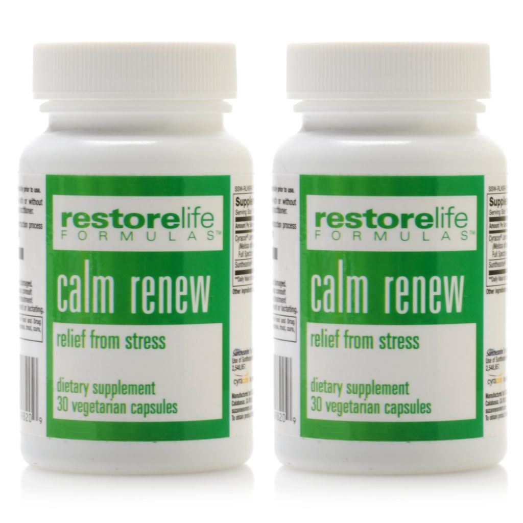 306-457 - Suzanne Somers RestoreLife Calm Renew Supplement Duo 30 Capsules Each