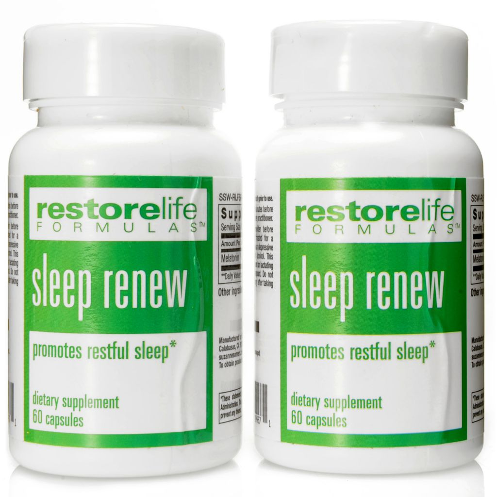 306-461 - Suzanne Somers RestoreLife Sleep Renew Supplement Duo 30 Tablets Each