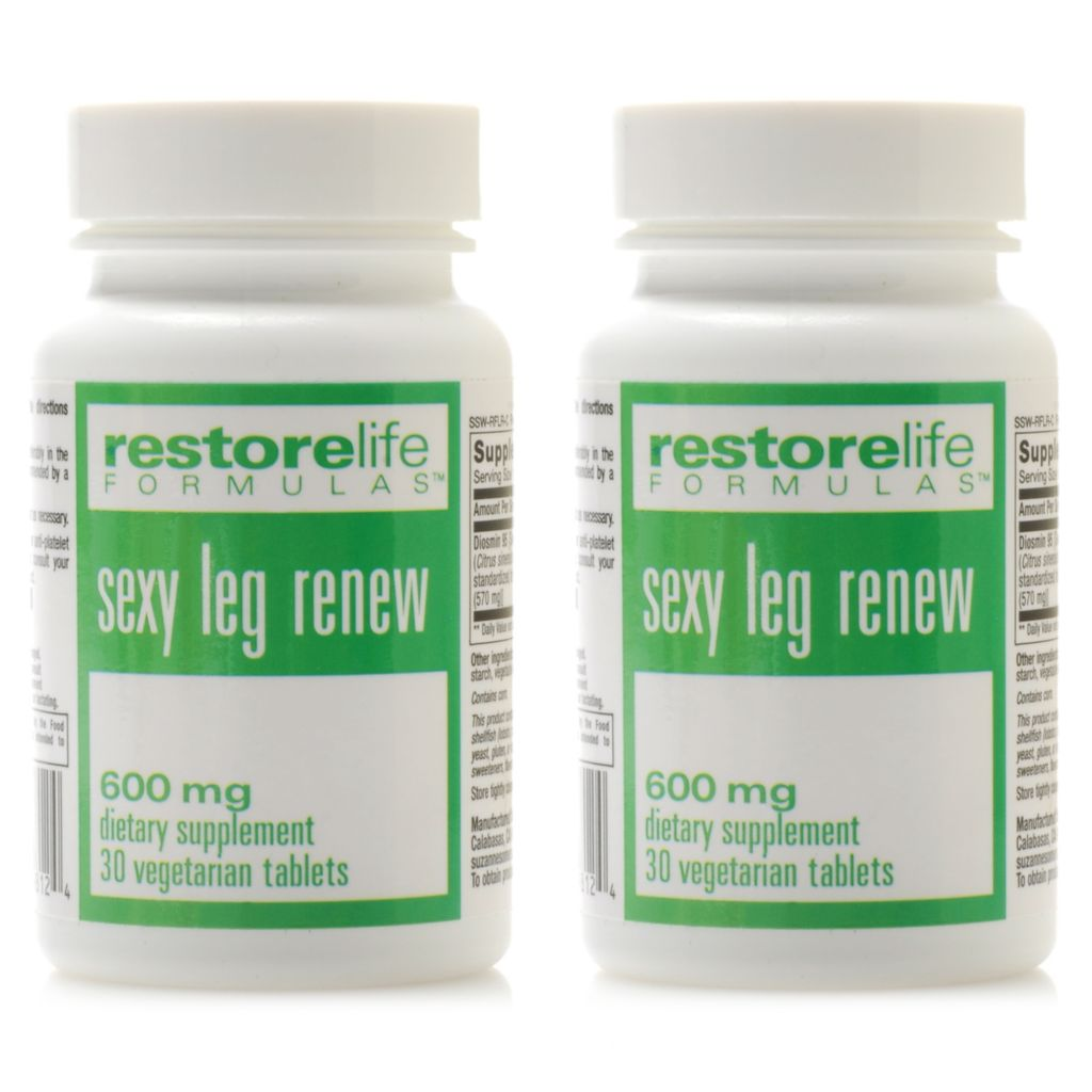 306-462 - Suzanne Somers RestoreLife Sexy Leg Renew Supplement Duo 30 Capsules Each