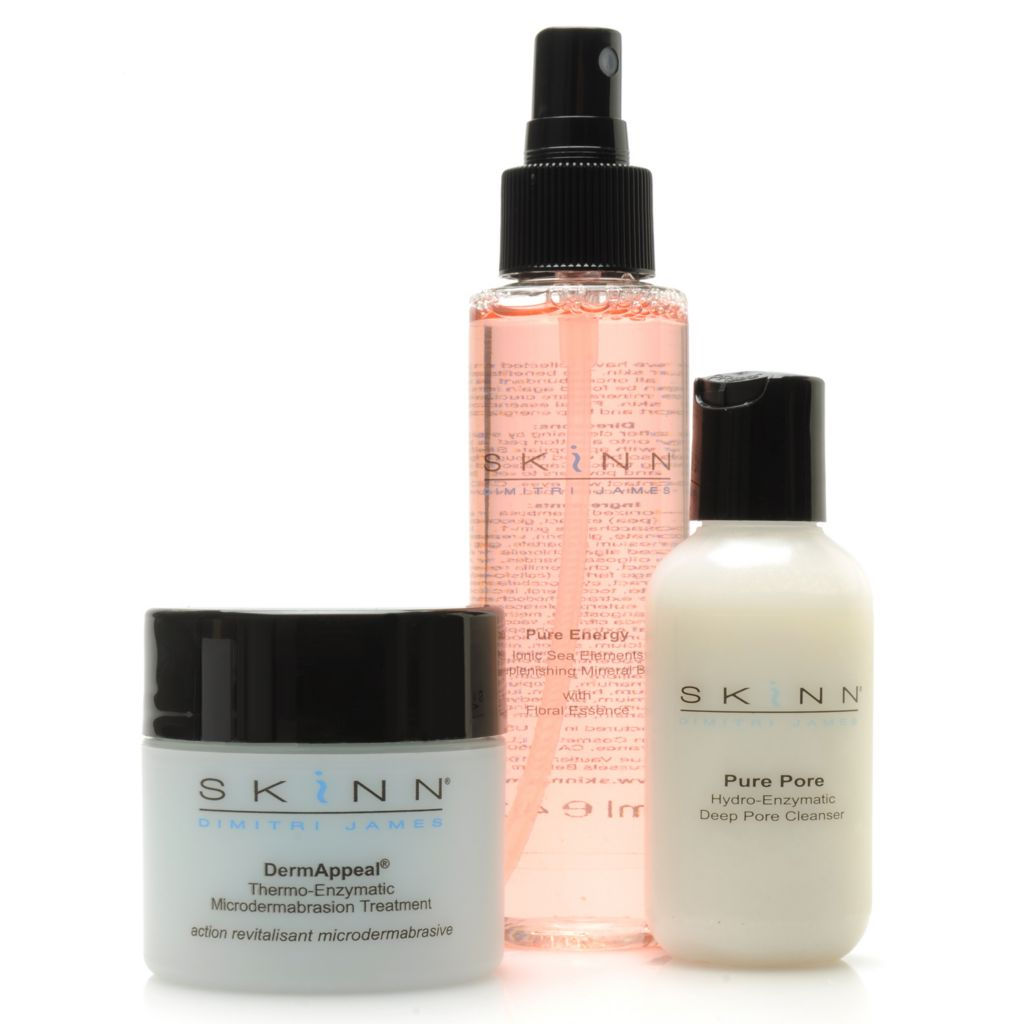 306-515 - Skinn Cosmetics Three-Piece Pore Cleanser, Mineral Bath & DermAppeal Kit
