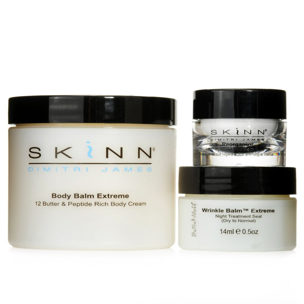 306-537 - Skinn Cosmetics Body Balm Extreme, Wrinkle Balm & Reorganize Night Eye Balm Trio