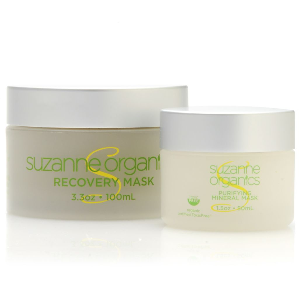 306-542 - Suzanne Somers Organics Recovery Mask & Purifying Mineral Mask Duo