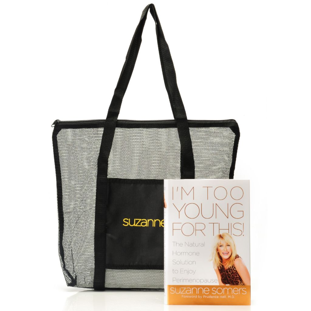 "306-545 - Suzanne Somers ""I'm Too Young for This!"" Book w/ Tote Bag"