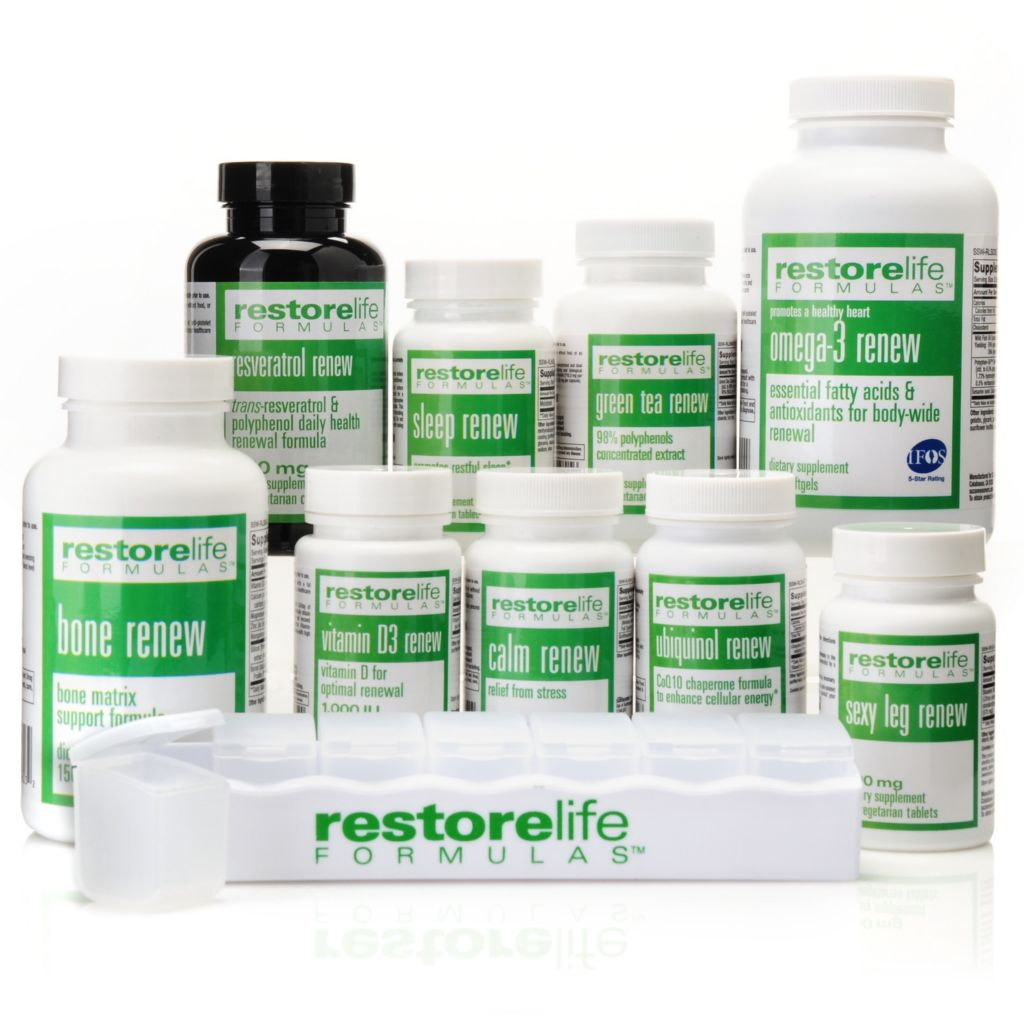 306-546 - Suzanne Somers RestoreLife 10-Piece Blockbuster Supplement Kit