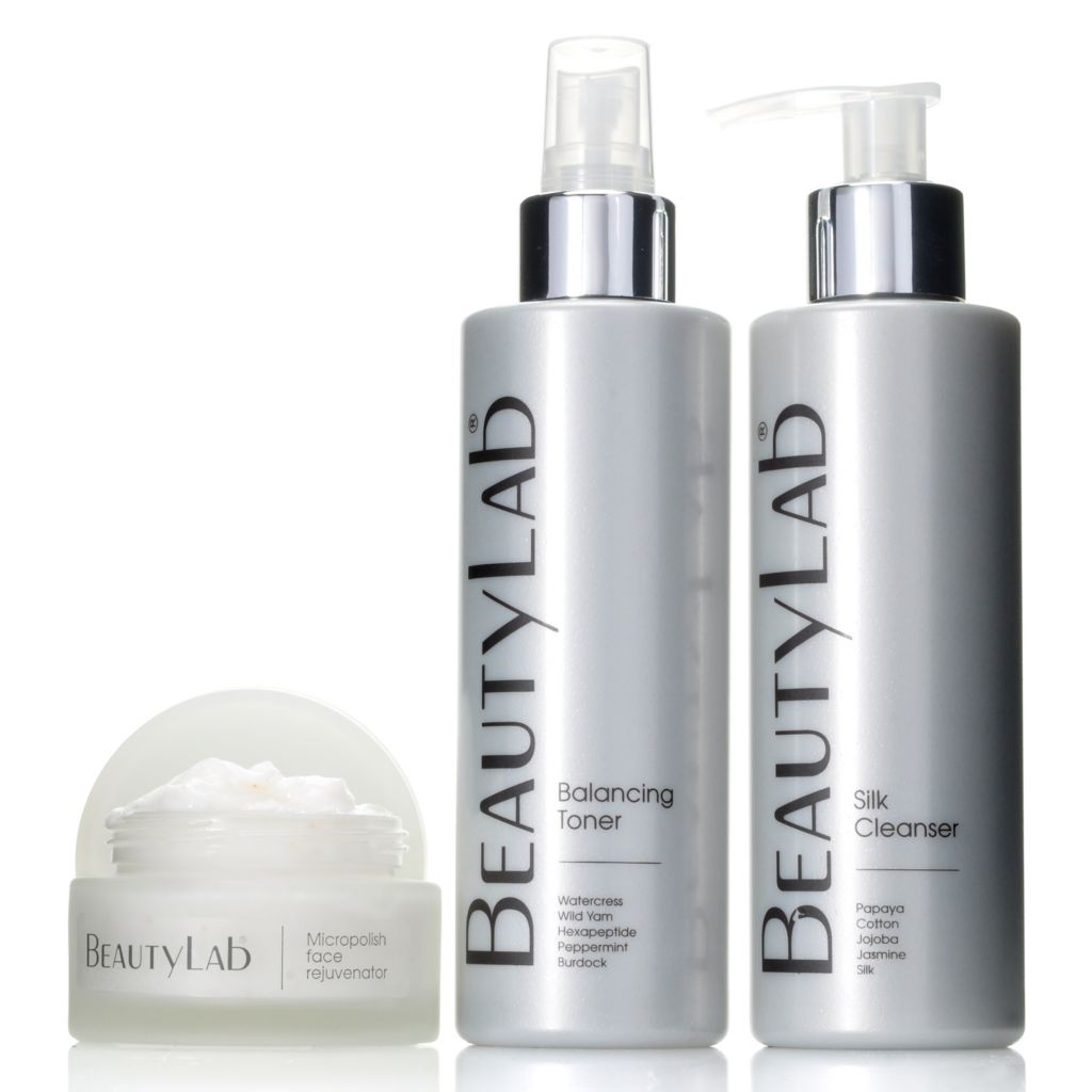 306-562 - BeautyLab® Silk Cleanser, Balancing Toner & Micropolish Face Rejuvenator Trio