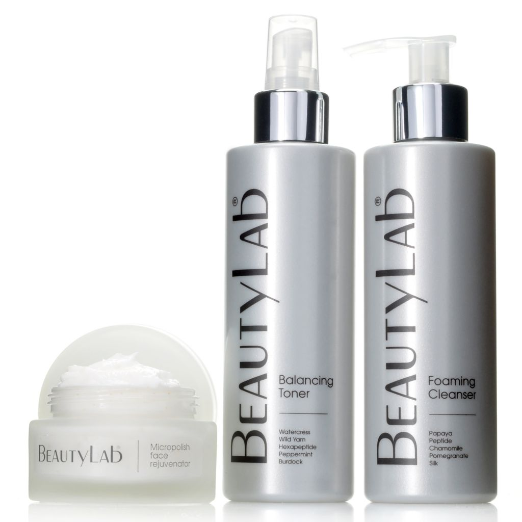 306-563 - BeautyLab® Foaming Cleanser, Balancing Toner & Micropolish Face Rejuvenator Trio