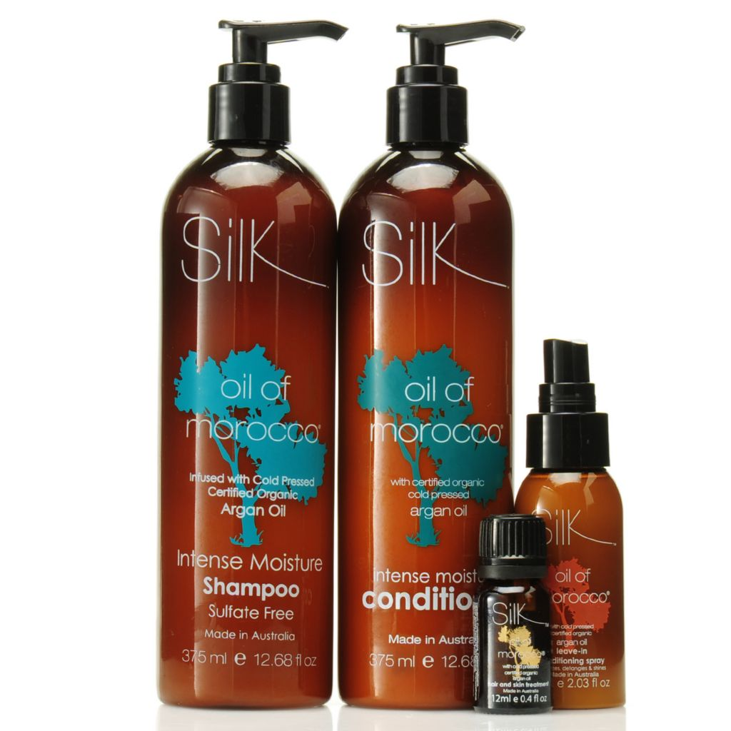 306-570 - Silk™ Oil of Morocco® Argan Oil Infused Moisture Haircare Trio w/ Bonus Hair & Skin Serum