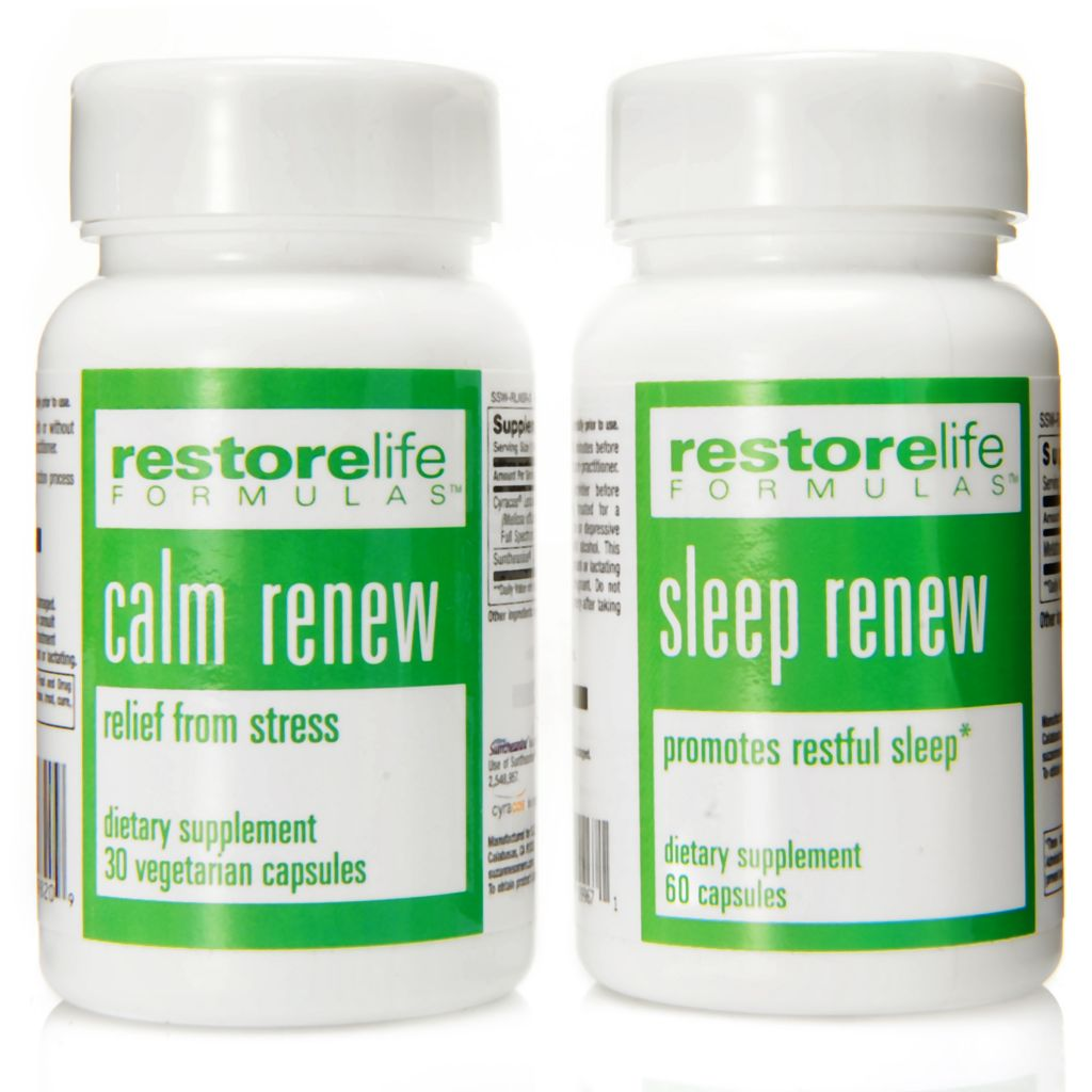 306-583 - Suzanne Somers RestoreLife Calm Renew & Sleep Renew Supplement Set