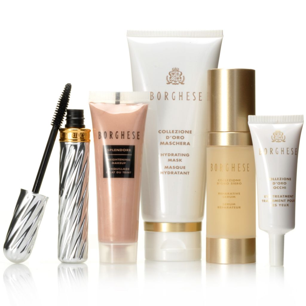 "306-602 - Borghese Five-Piece ""Go for the Gold"" Skincare & Cosmetics Kit"
