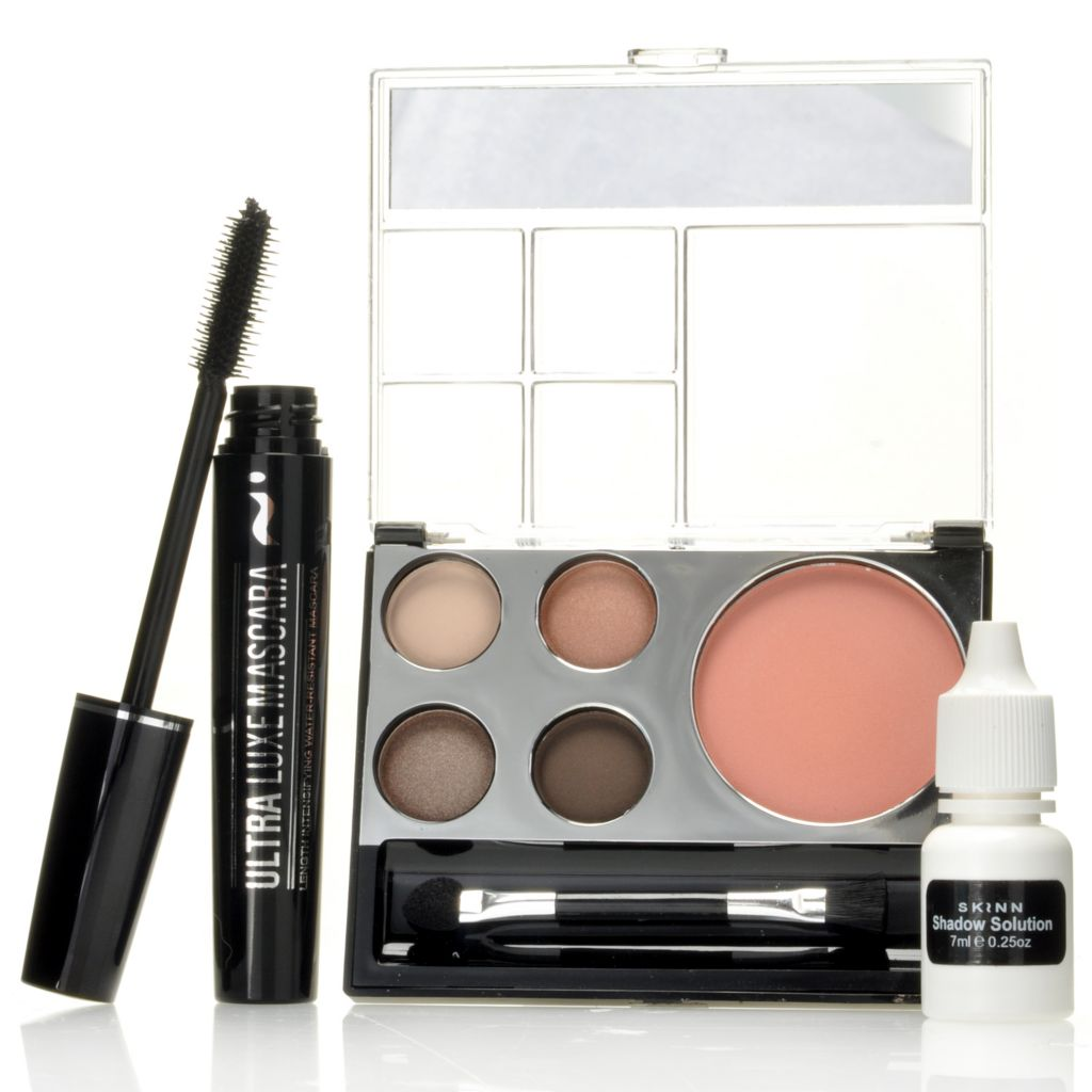 306-663 - Skinn Cosmetics Blush & Blink Compact, Shadow Solution & Ultra Luxe Mascara Trio