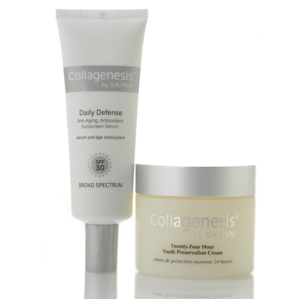 306-665 - Skinn Cosmetics 24-Hour Youth Preservation Cream & Daily Defense Serum Duo