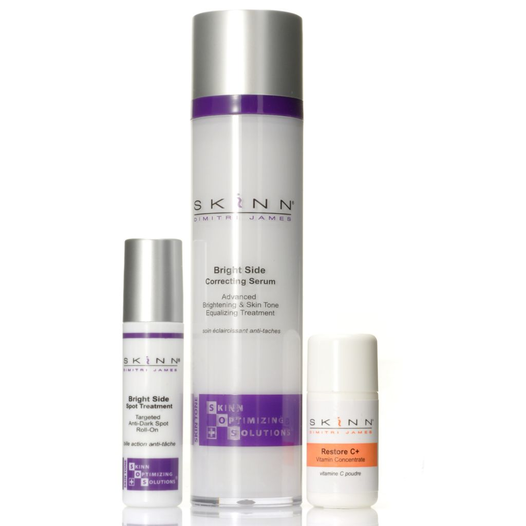 306-667 - Skinn Cosmetics SOS Bright Side Correcting Serum, Spot Treatment & Restore C+ Trio