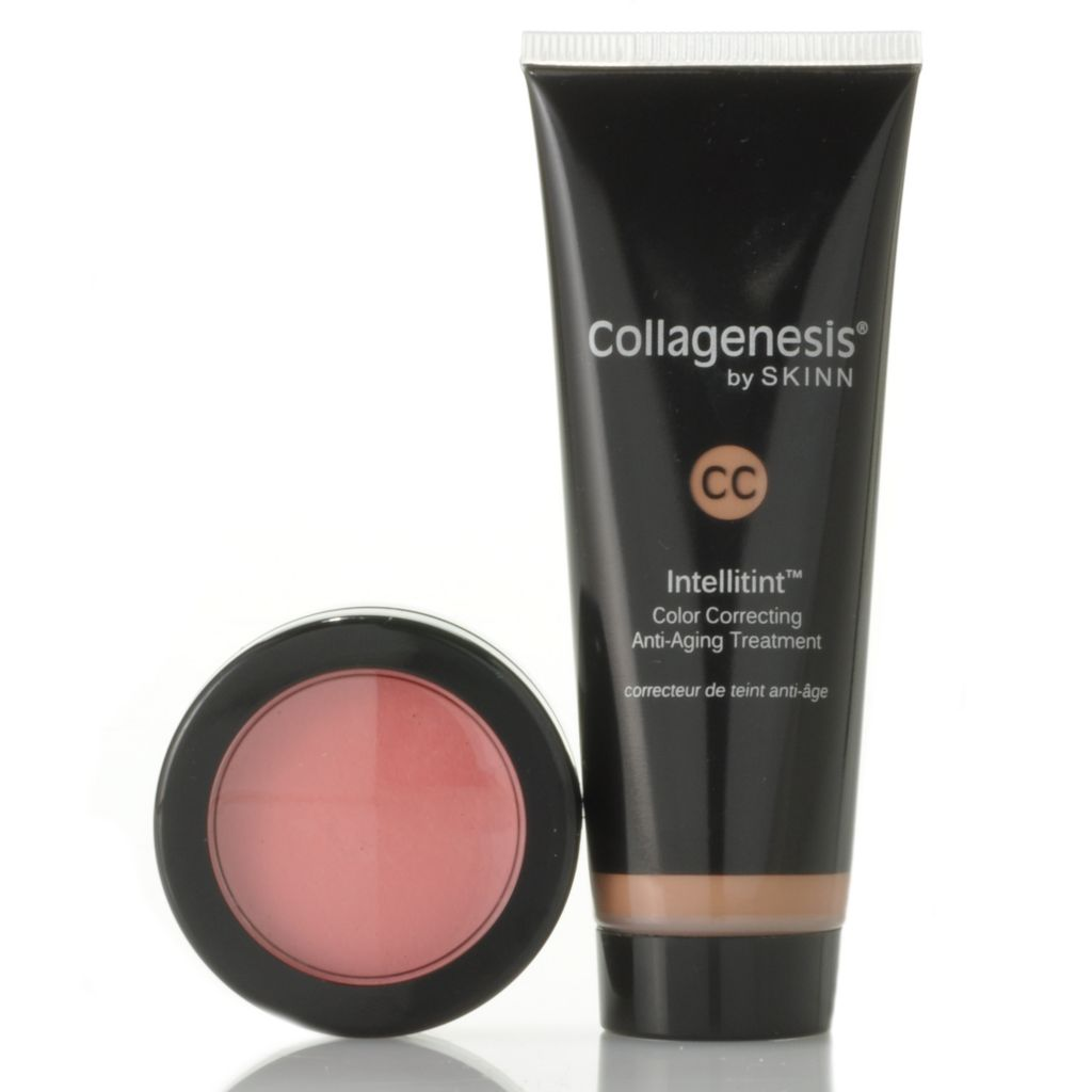 306-671 - Skinn Cosmetics Intellitint CC Cream & Color Touch Eye, Cheek & Lip Glow Duo