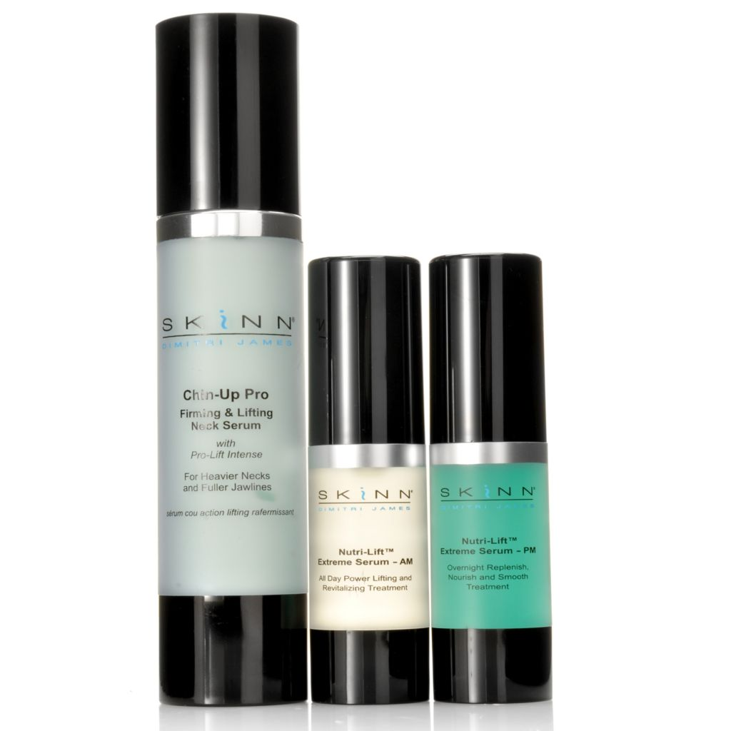 306-854 - Skinn Cosmetics Nutri-Lift Extreme Serum AM, PM & Chin-Up Pro Neck Serum Trio