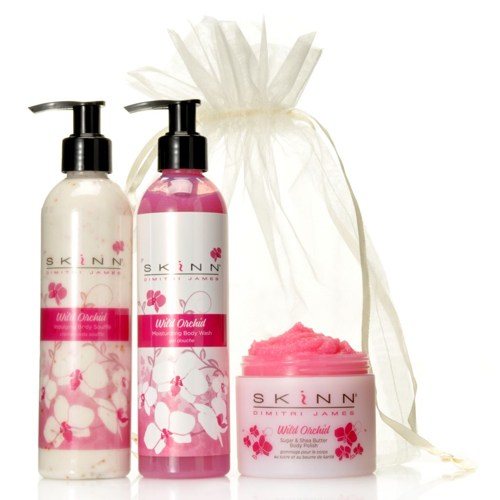 306-858 - Skinn Cosmetics Wild Orchid Body Polish, Body Souffle & Body Wash Trio