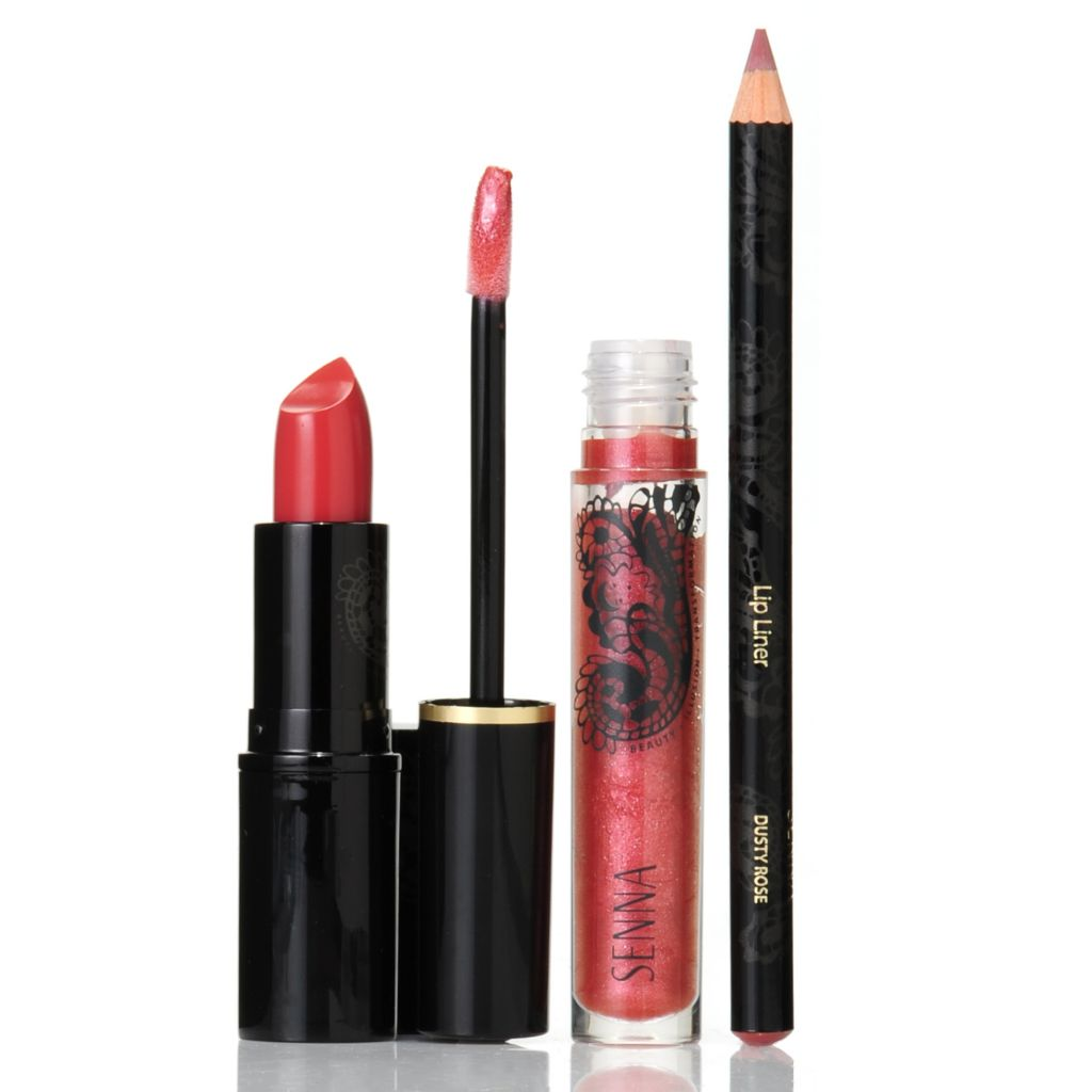 306-867 - SENNA Smooth Lip Liner, Velvet Lipstick & Ultra Shine Lip Lacquer Trio
