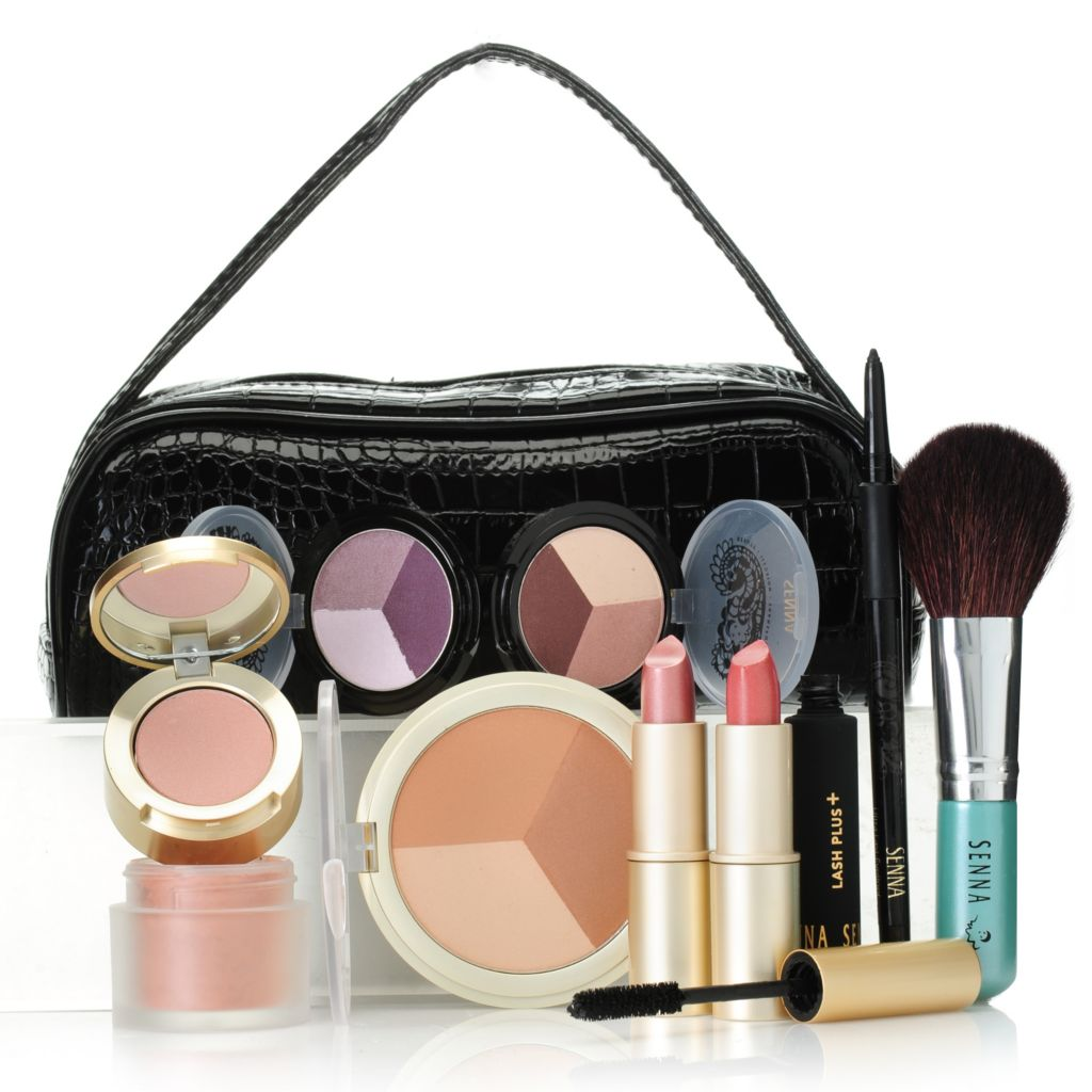 306-868 - SENNA Nine-Piece Color Collection for Eyes, Lips & Face w/ Makeup Bag