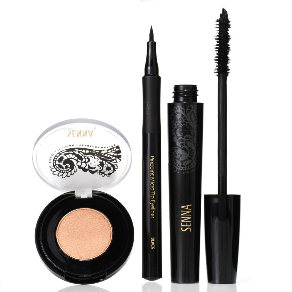 306-871 - SENNA Eye Shadow, Liquid Micro Tip Eyeliner & Volumizing Mascara Trio