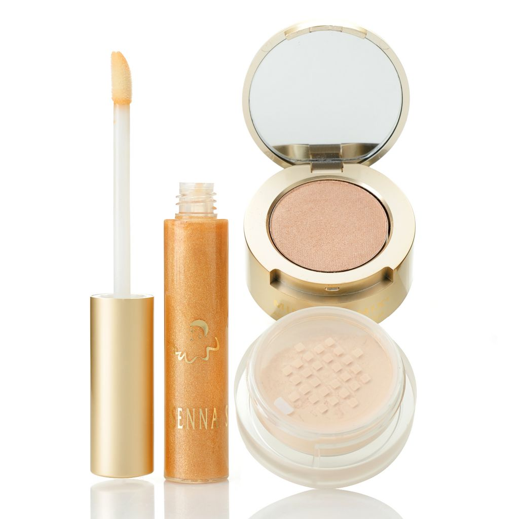 306-911 - SENNA Stardust Face & Body Mineral Mix] Highlight Duo w/ Lip Lacquer