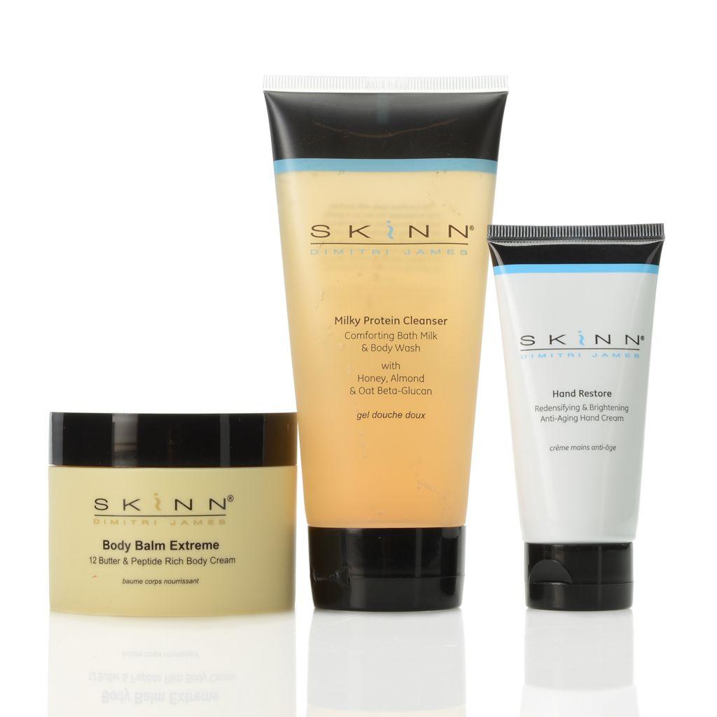 306-915 - Skinn Cosmetics Body Balm Extreme, Milky Protein Cleanser & Hand Restore Trio