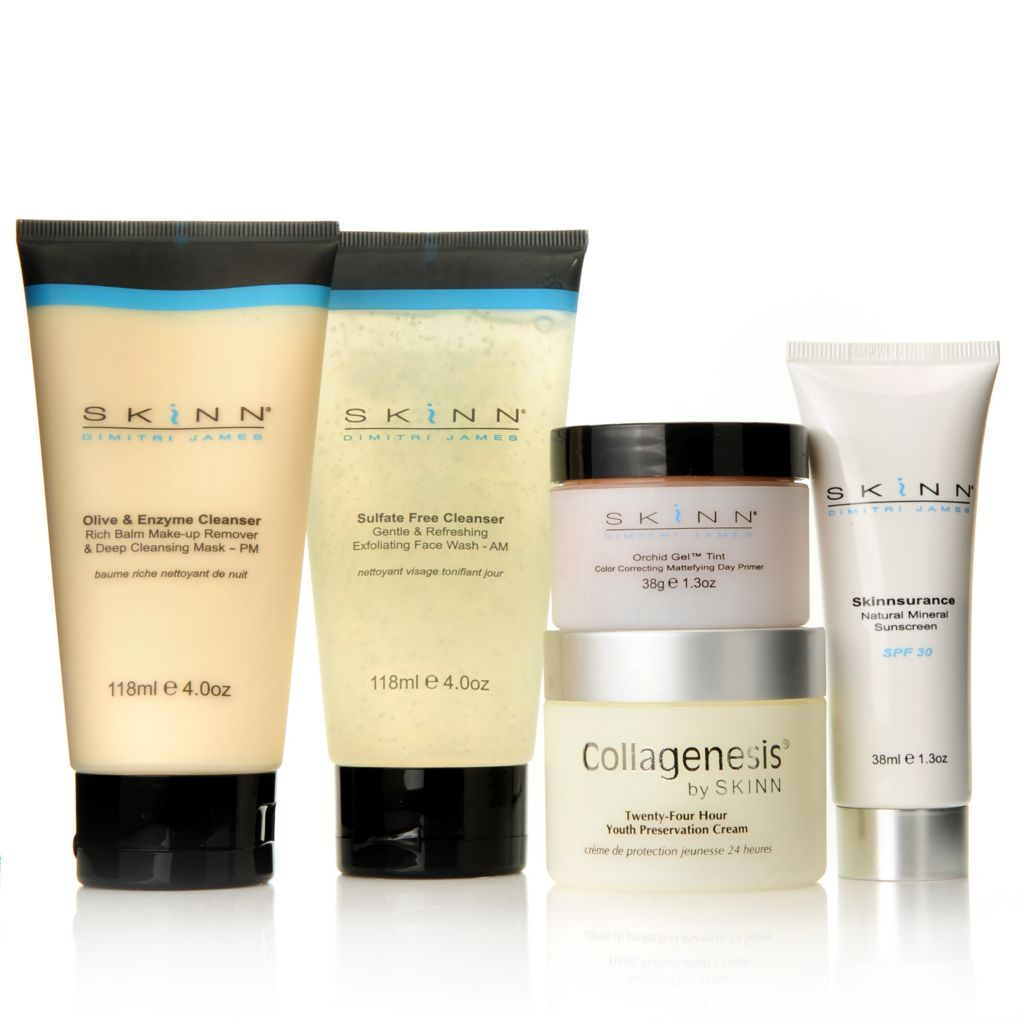 306-916 - Skinn Cosmetics Five-Piece Collagenesis Everyday Survival Skincare Kit