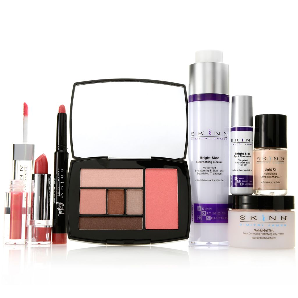 "306-935 - Skinn Cosmetics Seven-Piece ""Bright & Beautiful"" Skincare & Color Collection"