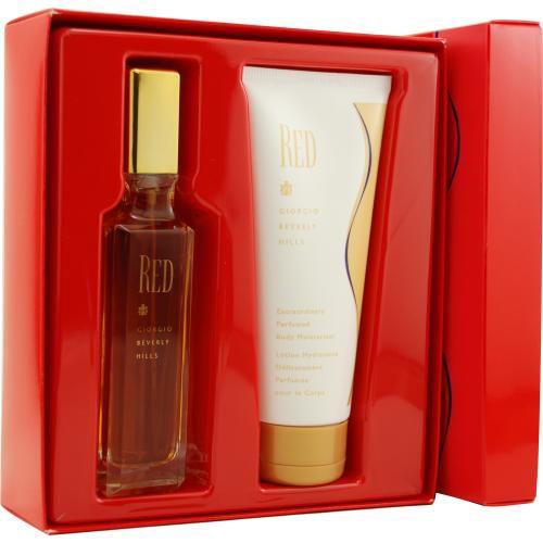 306-963 - Giorgio Beverly Hills Women's Red Set of Two 3 oz Eau de Toilette Spray & 6.7 oz Body Lotion