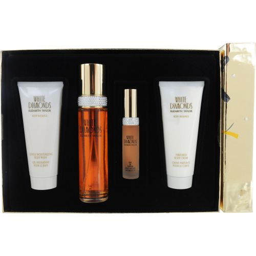 306-968 - Elizabeth Taylor Women's Four-Piece White Diamonds Fragrance & Body Set
