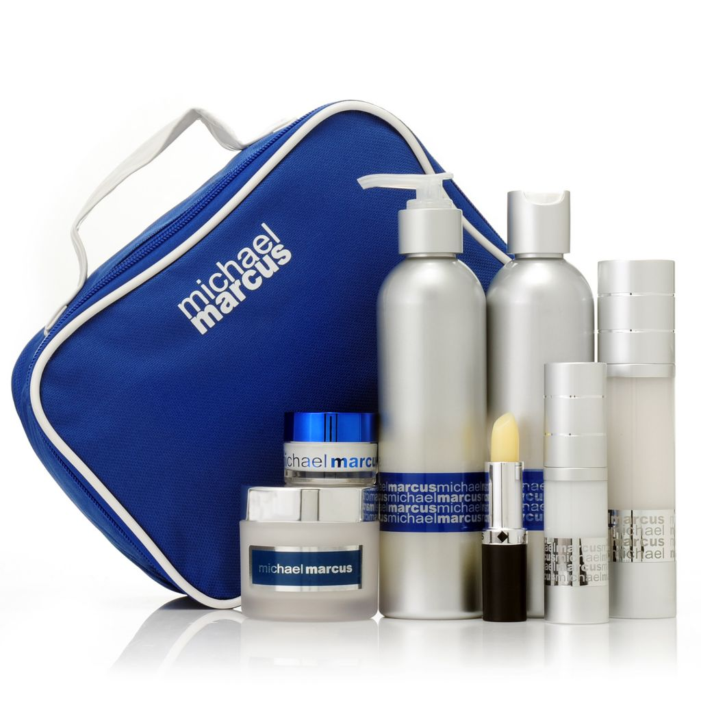 306-971 - Michael Marcus Seven-Piece Anti-Aging Skincare Regimen w/ Travel Bag