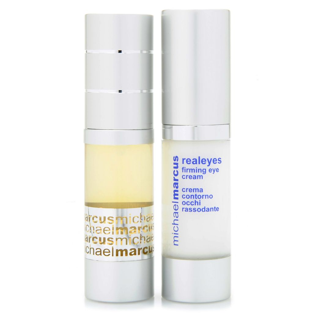 306-975 - Michael Marcus Anti-Pouf Eye Gel & Realeyes Firming Eye Cream Duo 0.5 oz Each