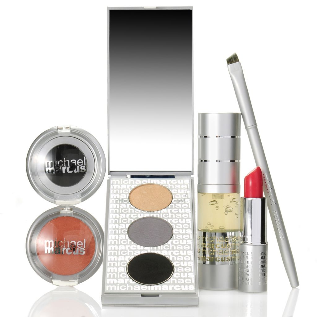 "306-978 - Michael Marcus Six-Piece ""Evening Essentials"" Color Collection for Eyes, Lips & Face"