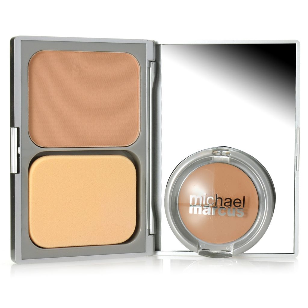 306-979 - Michael Marcus Creamy Concealer & Powder Foundation Duo for a Flawless Finish