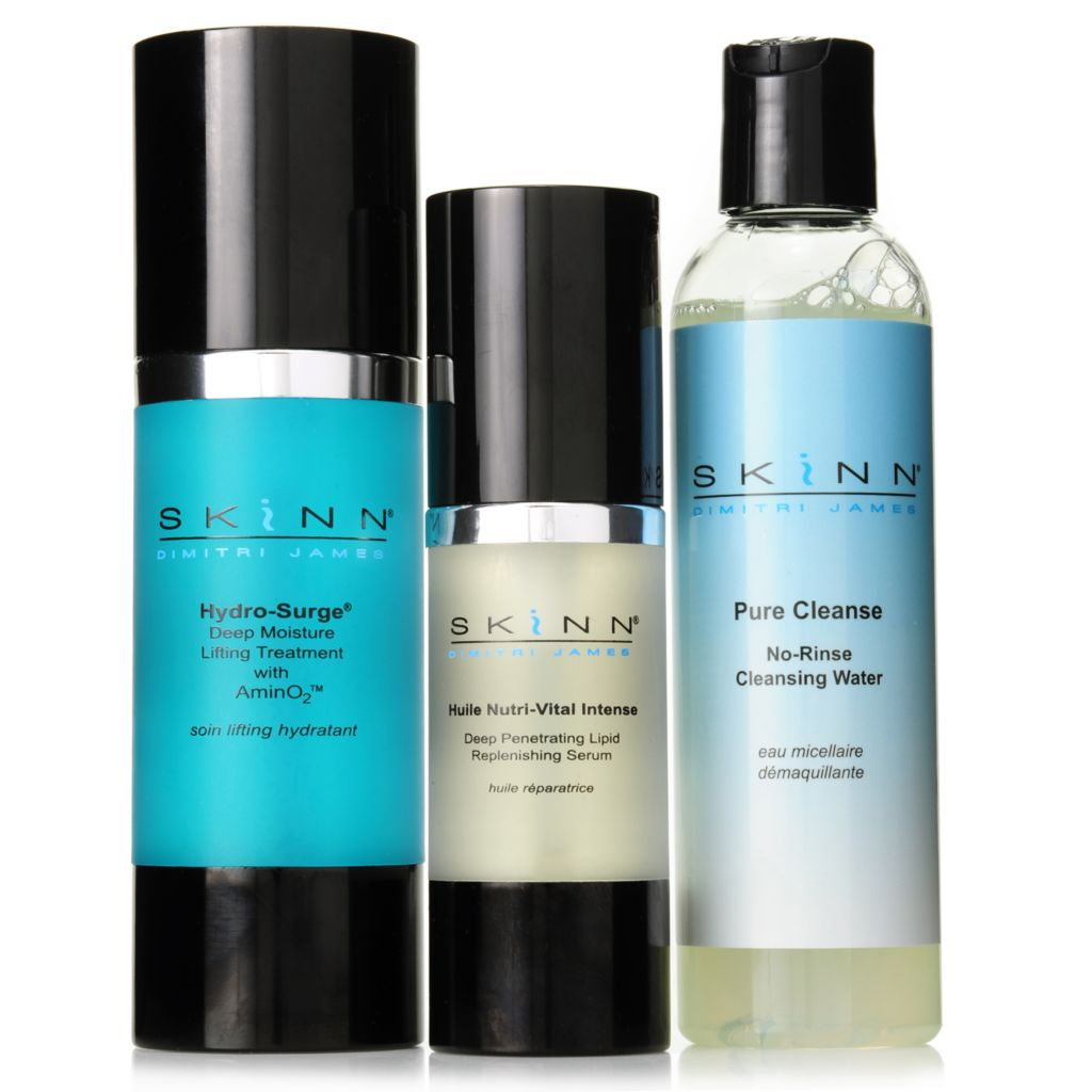 306-998 - Skinn Cosmetics Pure Cleanse, Hydro-Surge & Huile Nutri-Vital Hydrating Trio