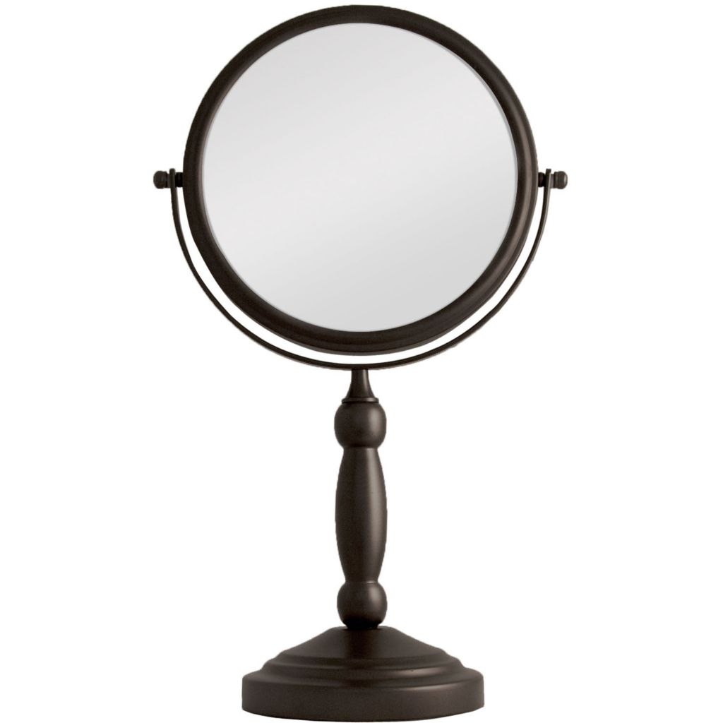 307-011 - 1X/10X Magnification Dual Sided Non-Lighted Swivel Vanity Mirror