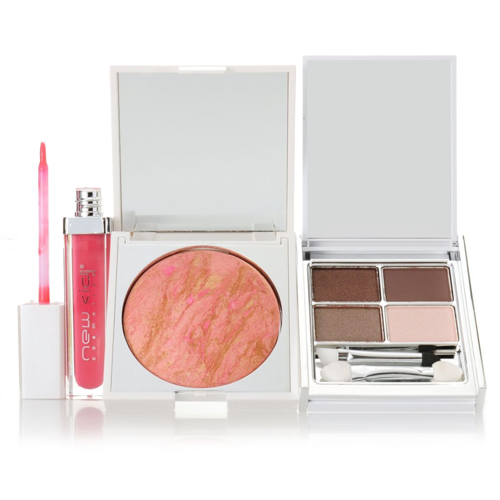 "307-053 - New CID Cosmetics® Three-Piece ""Flush of Colour"" Makeup Collection for Eyes, Lips & Face"
