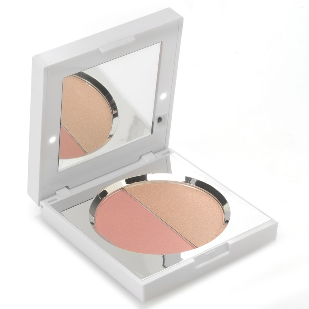 "307-067 - New CID Cosmetics® ""i-blush"" Blusher & Highlighter Duo in Light-up Mirrored Compact 0.334 oz"