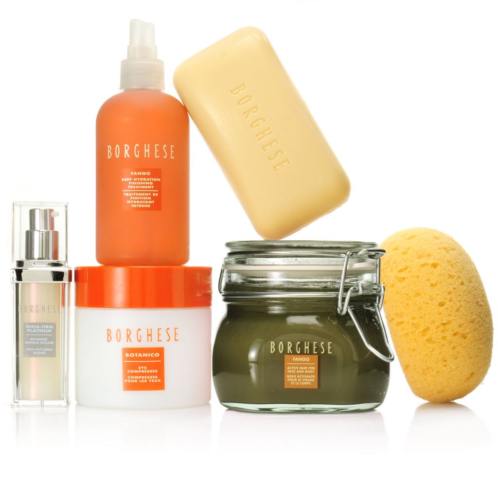 307-082 - Borghese Five-Piece Acqua di Vita® Hydrating Face & Body Skincare Set w/ Sponge