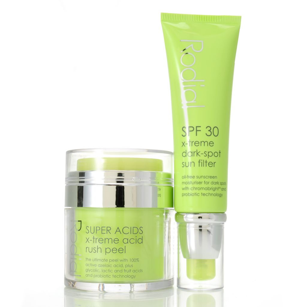 307-091 - Rodial Super Acids X-treme Rush Peel & Dark Spot Sun Filter SPF 30 Duo