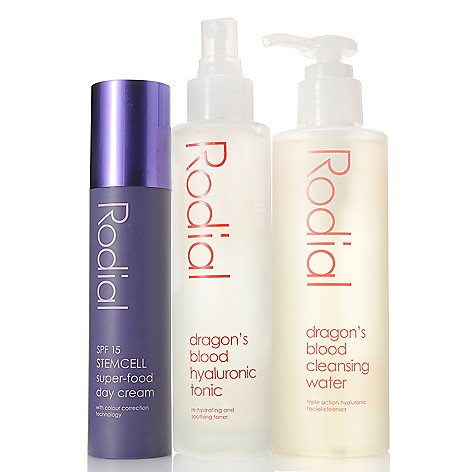 307-097 - Rodial Dragon's Blood Toner, Cleansing Water & Stemcell Day Cream Trio