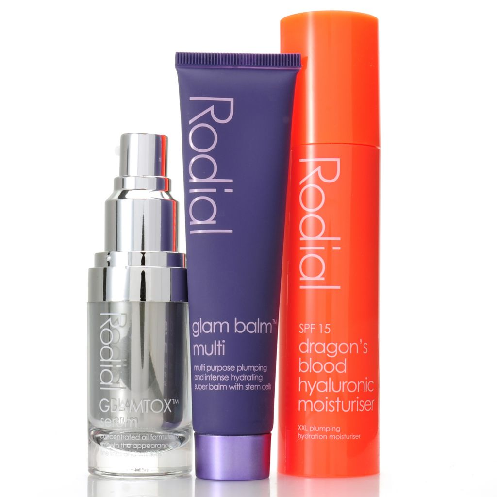 307-099 - Rodial Three-Piece Dragon's Blood Moisturizer, Stemcell Balm & GLAMTOX™ Serum