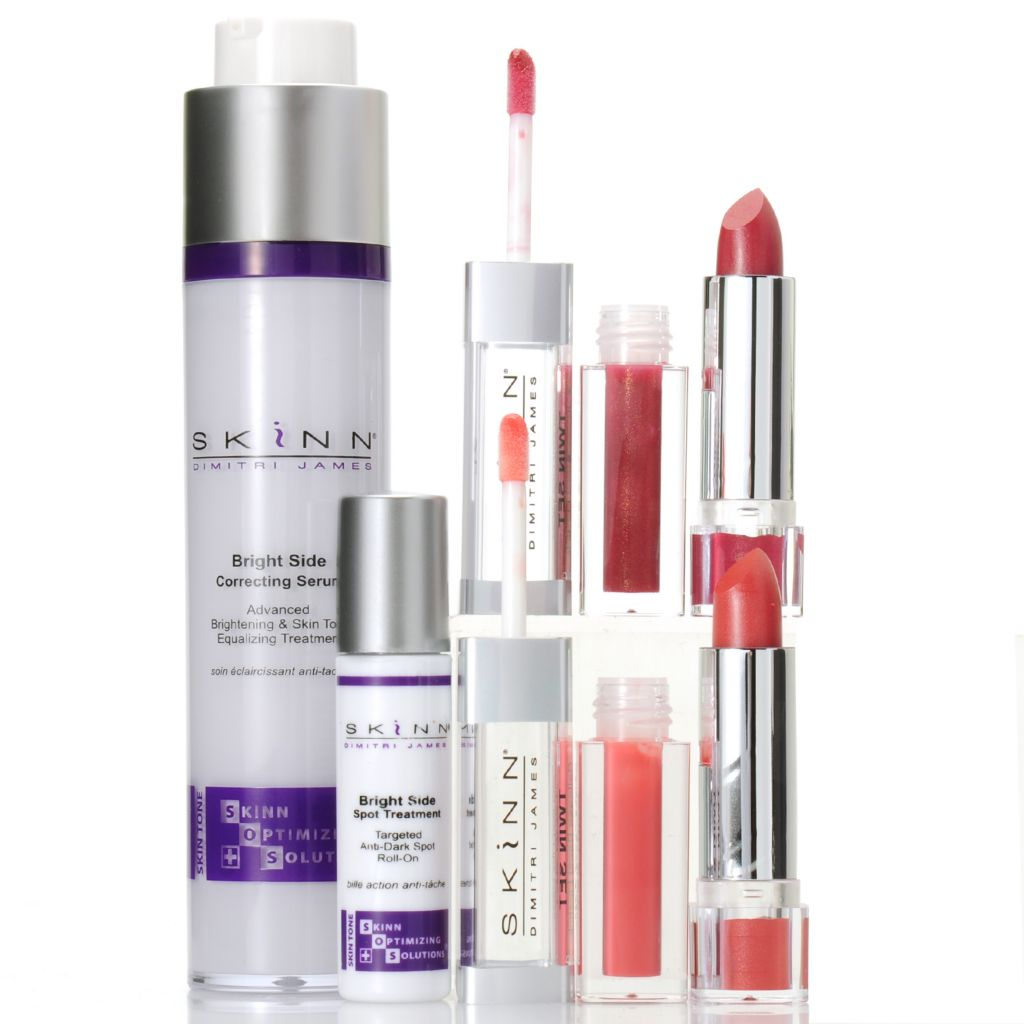 307-115 - Skinn Cosmetics Four-Piece Bright Side Serum, Spot Treatment & Twin Lip Duo Collection