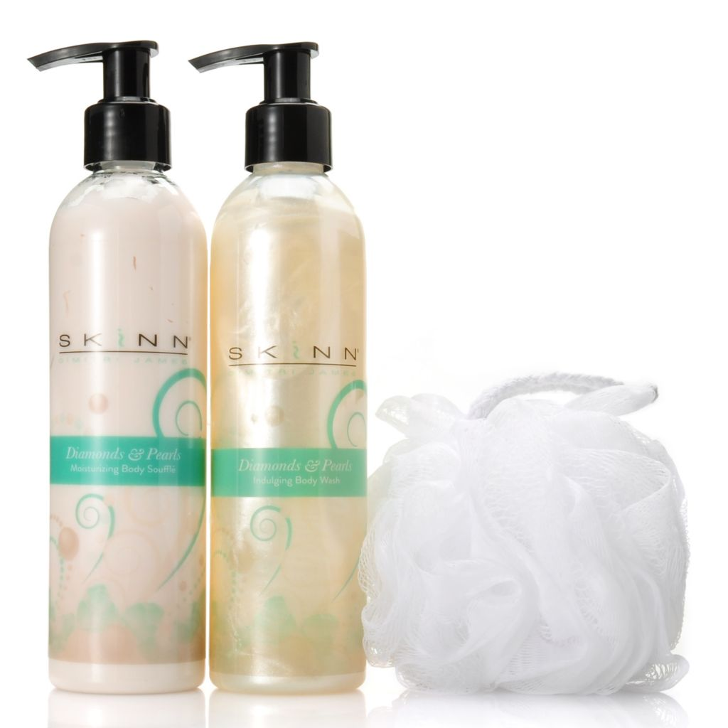 307-119 - Skinn Cosmetics Diamonds & Pearls Body Souffle & Body Wash Duo 8.5 oz Each