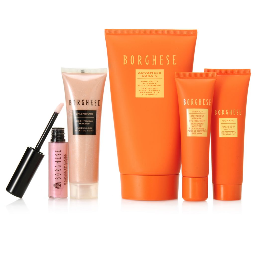 307-128 - Borghese Five-Piece Cura-C Skincare & Brightening Makeup Set w/ Tote